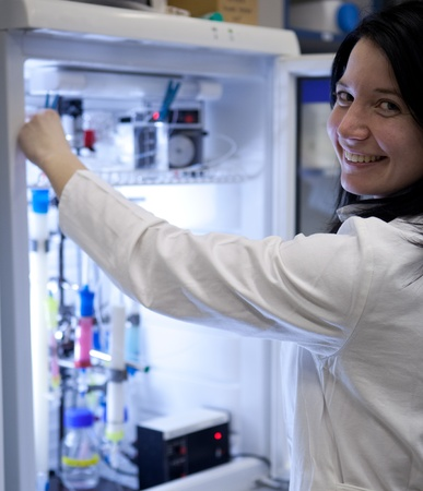 Portrait of a female researcher working in a lab photo