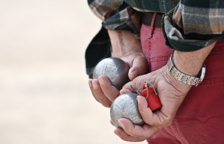 boules: Boules (Petanque) game, French riviera Stock Photo