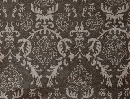 faded: faded dark-grey vintage background with damask-like ornamental pattern Stock Photo