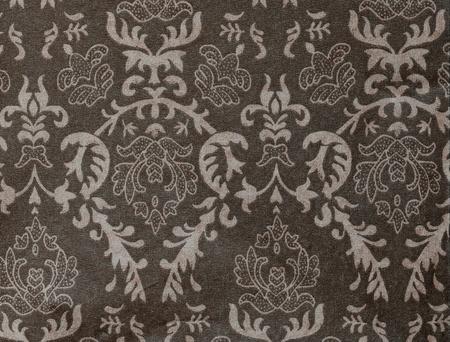 faded dark-grey vintage background with damask-like ornamental pattern Stock Photo - 9944527