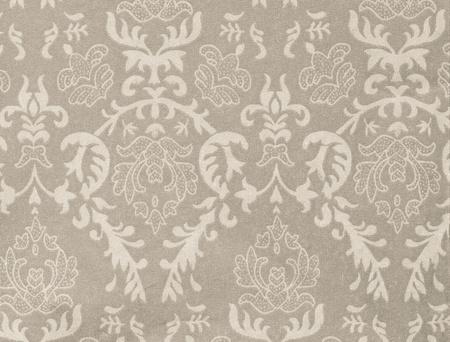 light grey vintage background with damask-like ornamental pattern photo