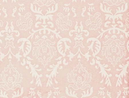damask wallpaper: light pink vintage background with damask-like ornamental pattern Stock Photo