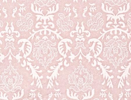 light pink vintage background with damask-like ornamental pattern Standard-Bild