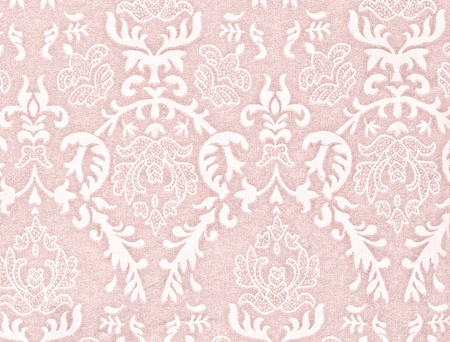 damask: light pink vintage background with damask-like ornamental pattern Stock Photo