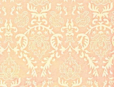 light orange vintage background with damask-like ornamental pattern Stock Photo