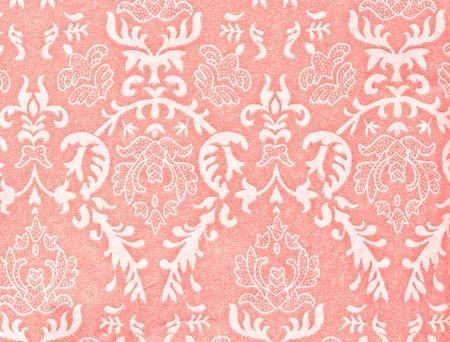 vintage wallpaper: light pink vintage background with damask-like ornamental pattern Stock Photo