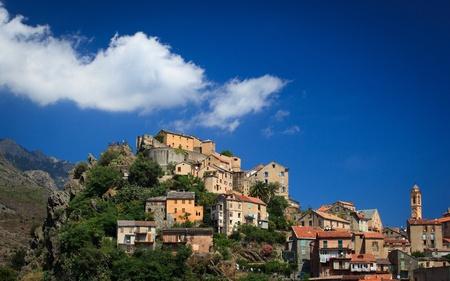 pano: View of Corte, Corsica, France