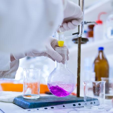 laboratorio: investigador de llevar a cabo investigaciones en el laboratorio de qu�mica