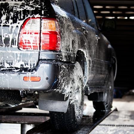car wash: car in a carwash