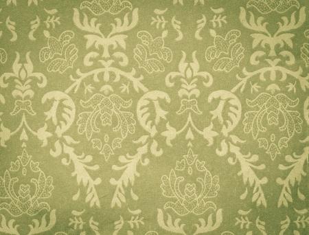 faded green vintage background with damask-like ornamental pattern Zdjęcie Seryjne