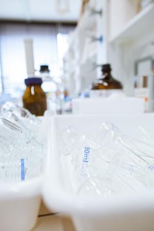 chemistry lab (shallow DOF) photo