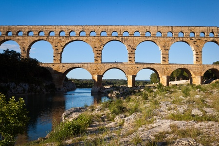 architectural heritage of the world: Pont du Gard, Languedoc-Roussillon, France