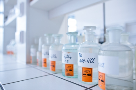 chemistry lab (shallow DOF) Stock Photo