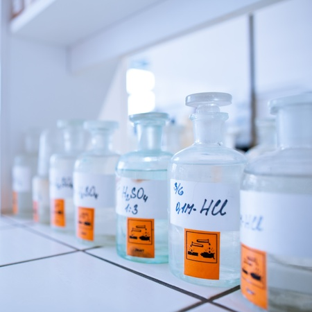 chemistry lab (shallow DOF) Stock Photo - 11966985