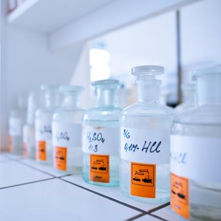 chemistry lab (shallow DOF) Stock Photo