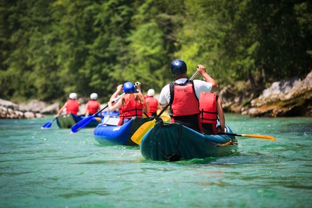 adventure sports: white water rafting Editorial