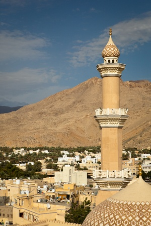 Stunning view of the city of Nizwa surrounded by mountains (Ad Dakhiliyah, Oman) Stock Photo - 12406364