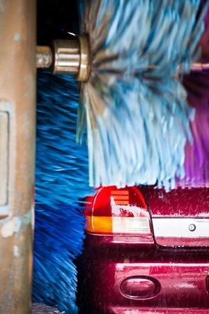 service car: cars in a carwash