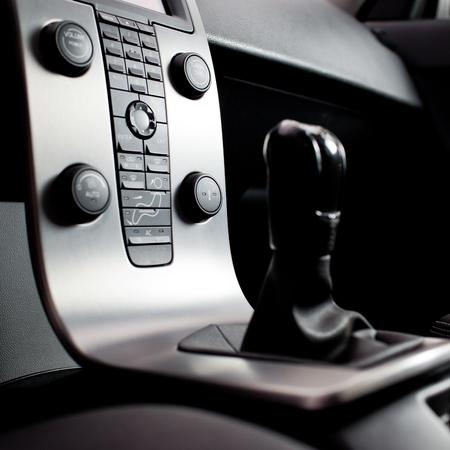 Modern car interior photo