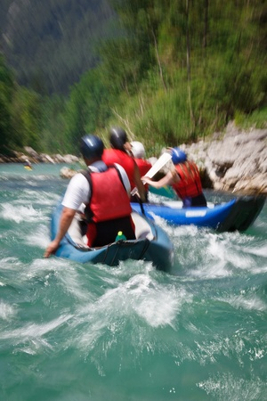 persevere: white water rafting