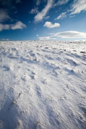 Snowy mountain scenery with deep blue sky Stock Photo - 12655154