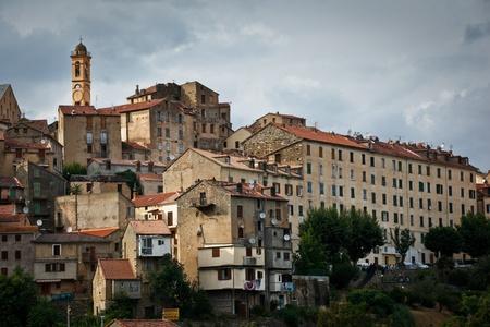separatist: View of Corte, Corsica, France