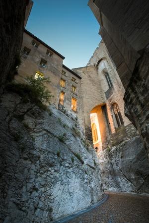 avignon: Splendid gothic Popes Palace in Avignon, France Stock Photo