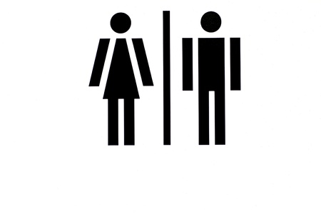 gender equal opportunities concept - man and woman side by side Stock Photo - 13153782