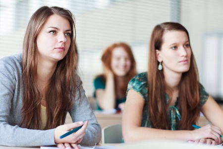 Students in class (color toned image) Stock Photo - 12988785