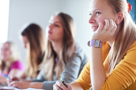 Students in class (color toned image) Stock Photo - 13445400
