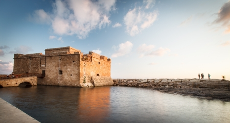 Late afternoon view of the Paphos Castle  Paphos, Cyprus  Stock Photo - 14520363