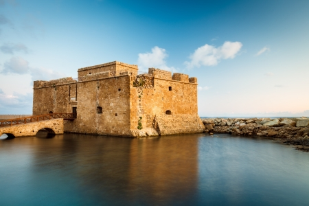 Late afternoon view of the Paphos Castle Paphos, Cyprus