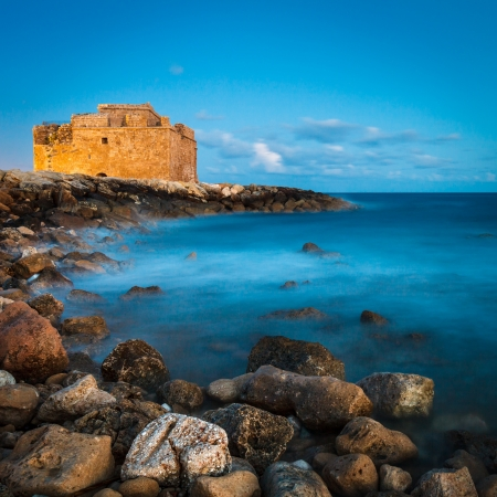 Night view of the Paphos Castle  Paphos, Cyprus  Stock Photo - 14520362