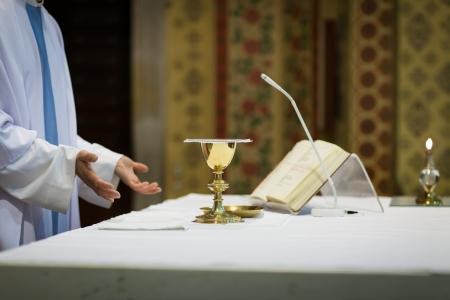 liturgy: Priest during a wedding ceremonynuptial mass
