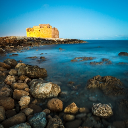 Night view of the Paphos Castle  Paphos, Cyprus  Stock Photo - 14520364