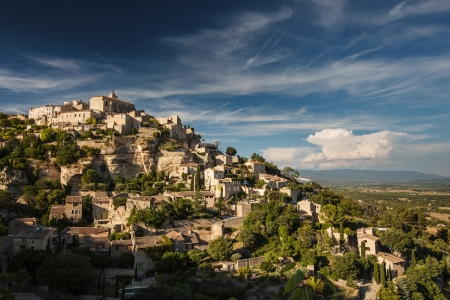 View of Gordes - one of the most beautiful villages in France photo