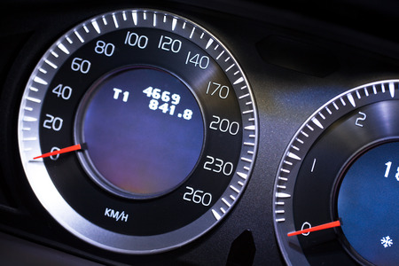 air speed: Modern car dashboard close-up view