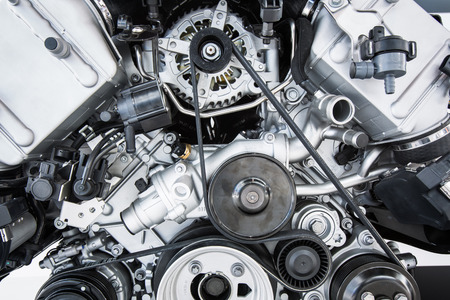 mechanic: Motor de coche - motor potente coche moderno (unidad de motor - limpio y brillante Foto de archivo