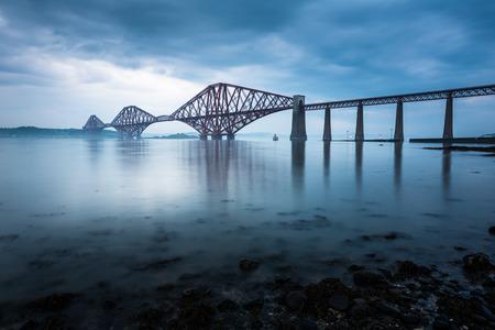 Forth bridges in Edinburgh, Scotland photo