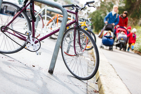 jewess: Good place to live - Street urban scenery with lots of bikes and families with children