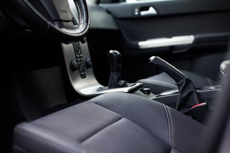 inside car: Modern car interior (color toned image)