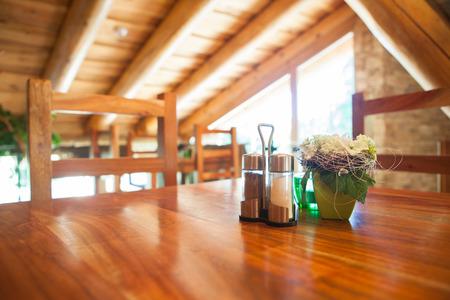 Cosy wooden restaurant - mountain chalet photo