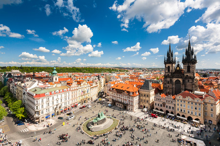 Old Town Square in Prague, Czech republic Banco de Imagens - 29058373