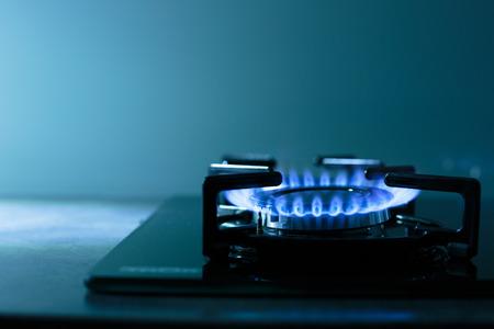 gas burner: FLames of gas stove (shallow DOF)
