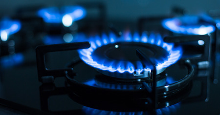 FLames of gas stove (shallow DOF) photo