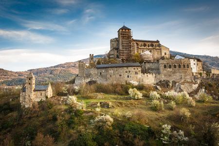 rhone: Sion, Switzerland - Valere castle Editorial