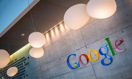 google: ZURICH, SWITZERLAND - MARCH  14, 2014: Google Corporation Reception Editorial