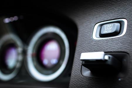 airbag: Modern car interior Stock Photo