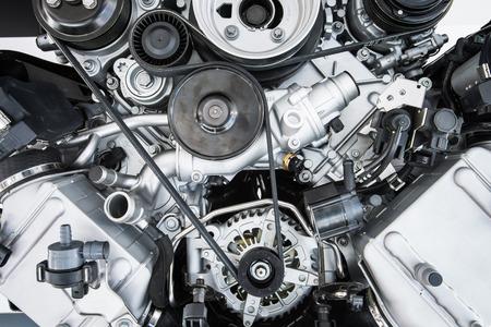 車エンジン - 現代の強力な車 (モーター ユニット - きれいな、光沢があります。