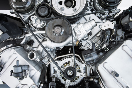 engine: Car Engine - Modern powerful car engine(motor unit - clean and shiny